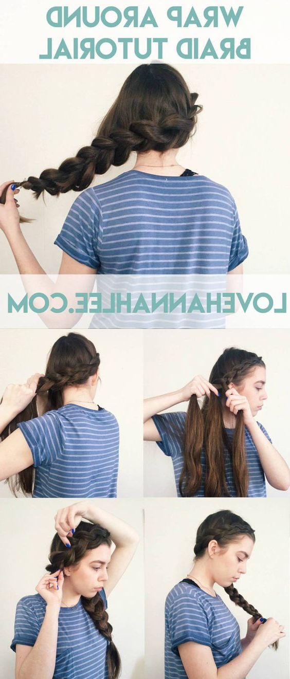 21 Tutorials For Styling Wrap Around Braids – Pretty Designs With Most Recently Braided Hairstyles With Beads And Wraps (View 21 of 25)