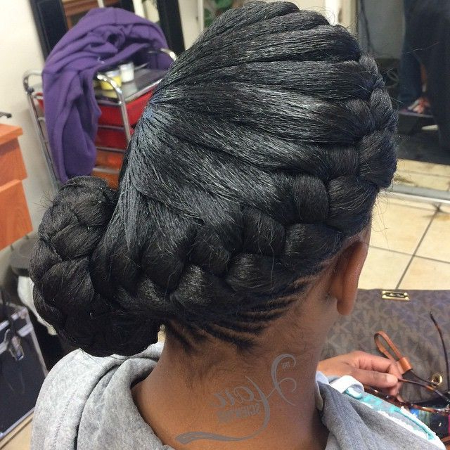 22 Goddess Braids Hairstyles: Includes Photos & Video With 2018 Forward Braided Hairstyles With Hair Wrap (View 3 of 25)