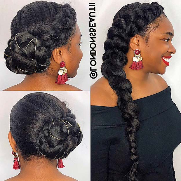 23 Beautiful Ways To Rock A Butterfly Braid | Stayglam Intended For Best And Newest Halo Braided Hairstyles With Beads (View 16 of 25)