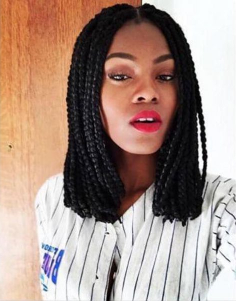23 Gorgeous Ways To Wear Box Braids Hairstyles – Thefashionspot Inside Recent Long Bob Braid Hairstyles With Thick Braids (View 20 of 25)