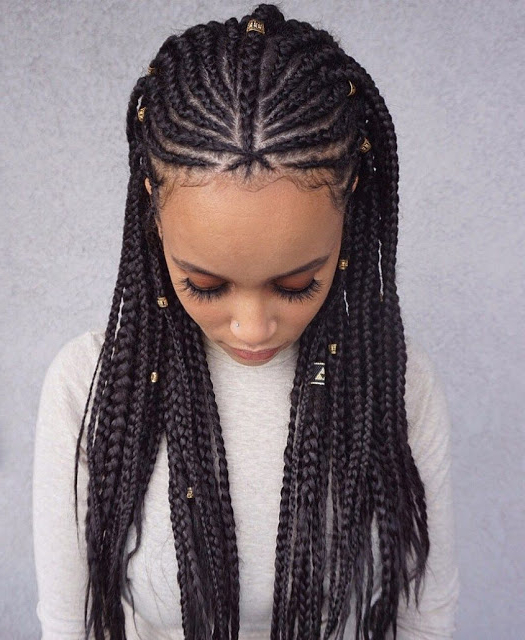 23 Lemonade Box Braids Hairstyles Ponytails For African Within Newest Box Braid Bead Ponytail Hairstyles (View 20 of 25)
