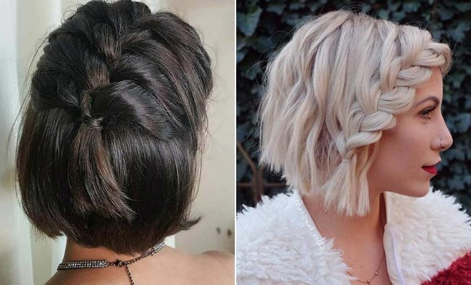 23 Quick And Easy Braids For Short Hair | Stayglam Inside Most Current Long And Short Bob Braid Hairstyles (View 4 of 25)