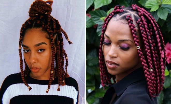 23 Short Box Braid Hairstyles Perfect For Warm Weather With Regard To Recent Half Up Box Bob Braid Hairstyles (View 3 of 25)