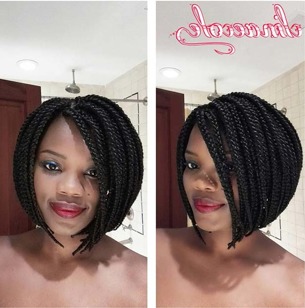 23 Trendy Bob Braids For African American Women | Page 2 Of Pertaining To Most Up To Date Long And Short Bob Braid Hairstyles (View 12 of 25)