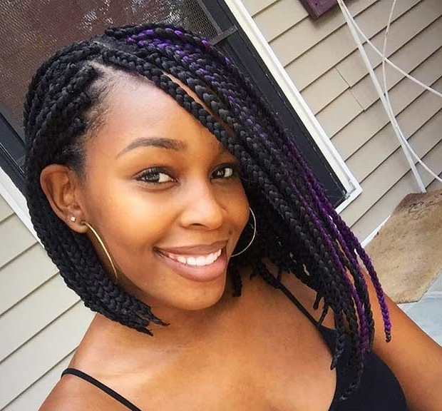 23 Trendy Bob Braids For African American Women | Stayglam Intended For Most Current Multicolored Bob Braid Hairstyles (View 2 of 25)