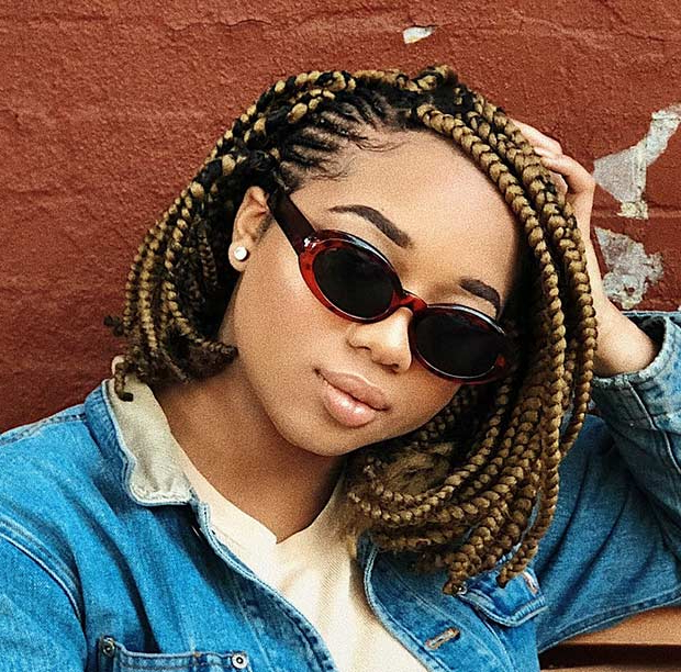 23 Trendy Bob Braids For African American Women | Stayglam Within Best And Newest Mini Braids Bob Hairstyles (View 17 of 25)
