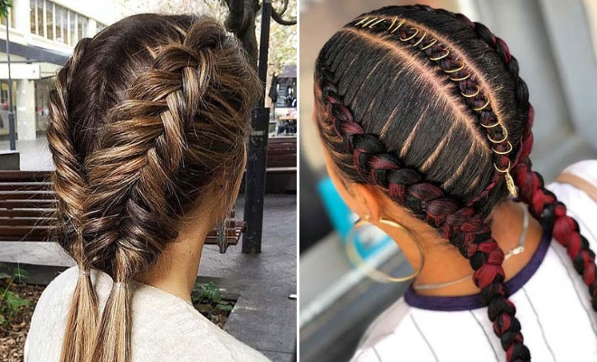 23 Two Braids Hairstyles Perfect For Hot Summer Days | Stayglam Within Most Up To Date Long Hairstyles With Multiple Braids (View 6 of 25)