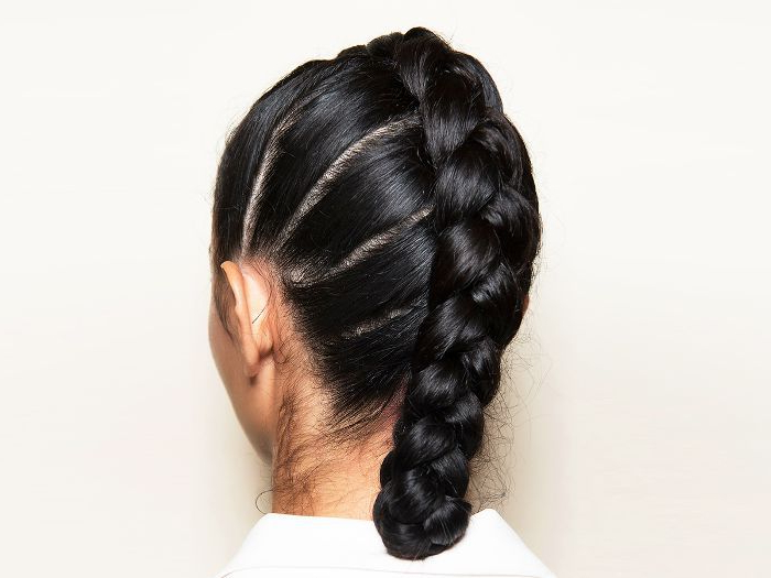 24 Braids Throughout Current No Pin Halo Braided Hairstyles (View 10 of 25)
