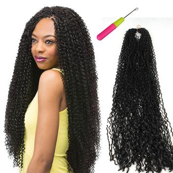 24 Inch Micro Knot Zizi Braids,synthetic Braiding Micro Zizi Crochet Braiding,freetress Water Weaving Afro Kinky Curls Extension – Buy Jerry Curl Pertaining To 2018 Curly Crochet Micro Braid Hairstyles (View 13 of 25)