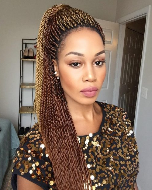 24 Senegalese Twist Styles To Try In 2019 Inside Recent Micro Twist Ponytail Hairstyles (View 3 of 25)