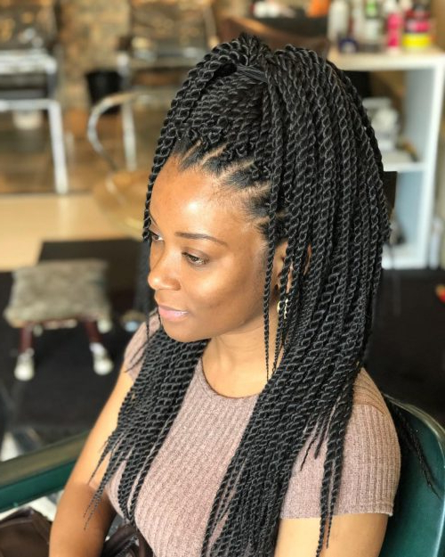 24 Senegalese Twist Styles To Try In 2019 With Regard To Most Popular Micro Twist Ponytail Hairstyles (View 4 of 25)