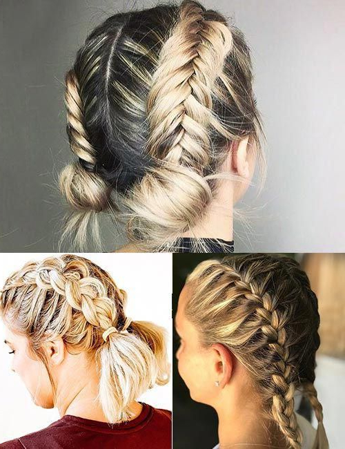 25 Amazing Short Hairstyles For Thick Hair #amazing Inside 2018 Thick And Luscious Braid Hairstyles (View 6 of 25)