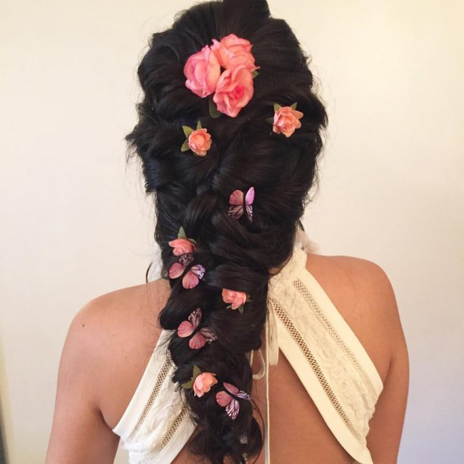 25 Charming Mermaid Braid Hairstyles – Ultimate Beauty Inside Most Popular Mermaid Fishtail Hairstyles With Hair Flowers (View 12 of 25)