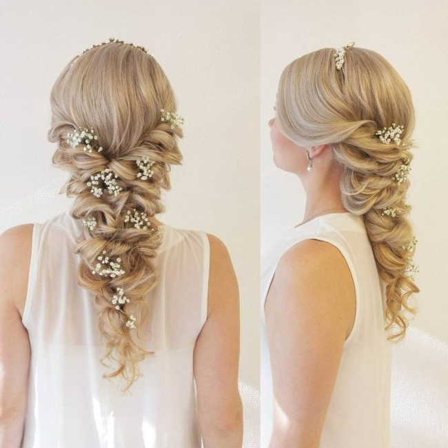 25 Charming Mermaid Braid Hairstyles – Ultimate Beauty Intended For Most Recently Mermaid Fishtail Hairstyles With Hair Flowers (View 13 of 25)