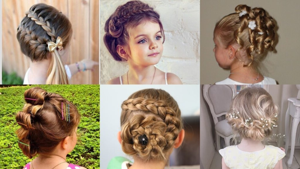 25 Cute And Charming Little Girl Updos – Haircuts Within Recent Funky Sock Bun Micro Braid Hairstyles (View 14 of 25)