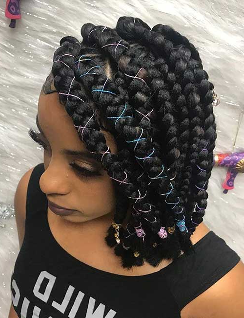 Featured Photo of Long Bob Braid Hairstyles With Thick Braids