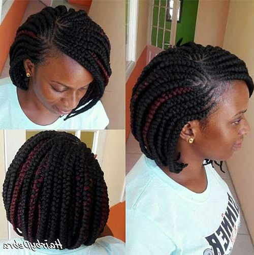 25 Exquisite Bob Braids You Need To Try Out With Regard To Best And Newest Asymmetrical Bob Braid Hairstyles (View 21 of 25)