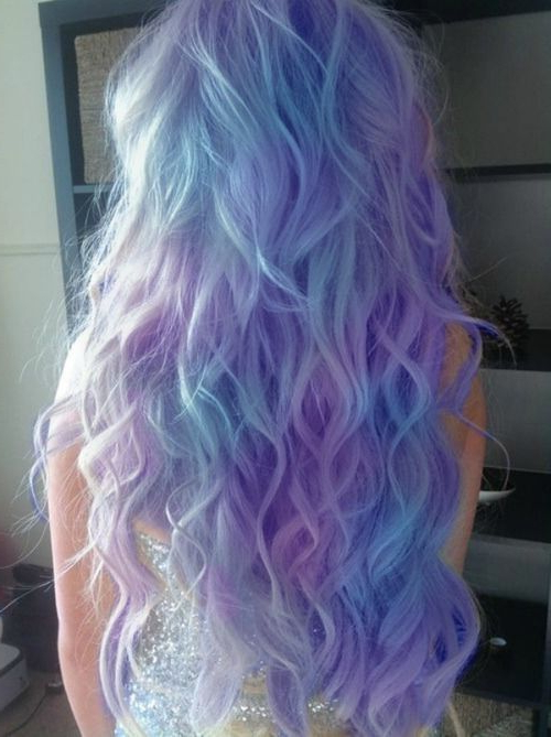 25 Gorgeous Mermaid Hair Color Ideas Photo Inside Most Current Cotton Candy Colors Blend Mermaid Braid Hairstyles (View 12 of 25)