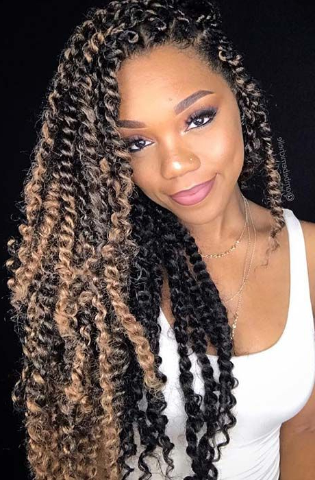 25 Gorgeous Passion Twists Hairstyles | I'm Loving This Hair Inside Most Popular Purple Passion Chunky Braided Hairstyles (View 2 of 25)