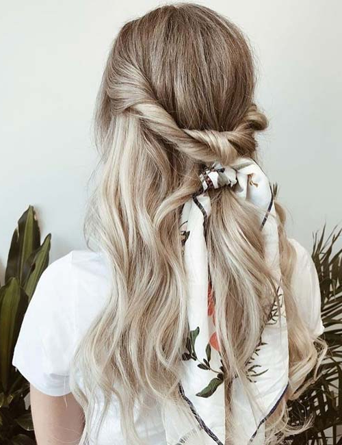 25 Incredible Ways To Style Your Hair With A Scarf Throughout Most Up To Date Forward Braided Hairstyles With Hair Wrap (View 8 of 25)