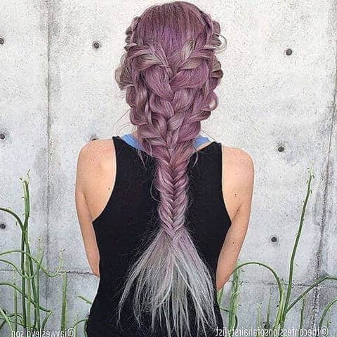 25 Mermaid Hairstyles For Long Hair Braids 2018 [Updated] Intended For Best And Newest Mermaid Fishtail Hairstyles With Hair Flowers (View 14 of 25)