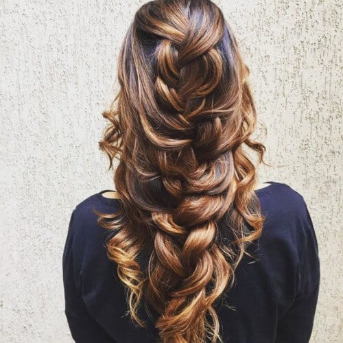 25 Mermaid Hairstyles For Long Hair Braids 2018 [Updated] With Most Up To Date Messy Curly Mermaid Braid Hairstyles (View 3 of 25)