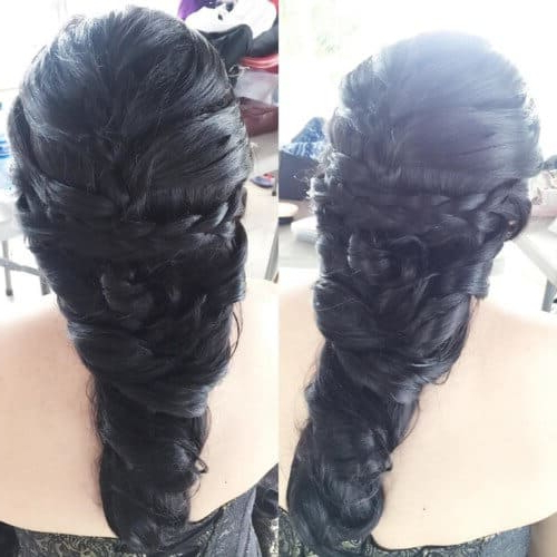 25 Mermaid Hairstyles For Long Hair Braids 2018 [Updated] Within Most Current Messy Curly Mermaid Braid Hairstyles (View 25 of 25)