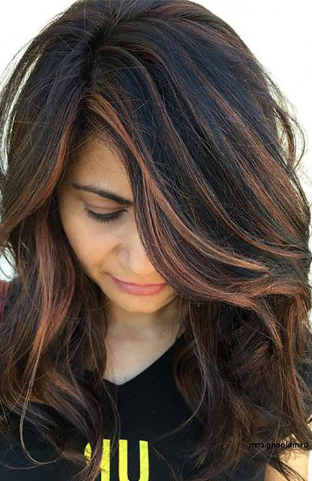 25 Sexy Black Hair With Highlights You Need To Try – The For Latest Tiny Twist Hairstyles With Caramel Highlights (View 4 of 25)