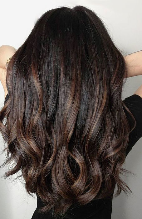 25 Sexy Black Hair With Highlights You Need To Try – The Pertaining To Most Popular Tiny Twist Hairstyles With Caramel Highlights (View 12 of 25)