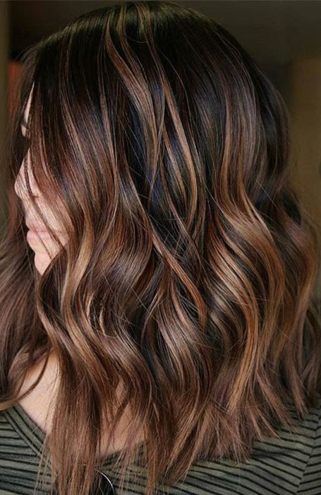 25 Sexy Black Hair With Highlights You Need To Try – The Regarding Most Current Tiny Twist Hairstyles With Caramel Highlights (View 7 of 25)