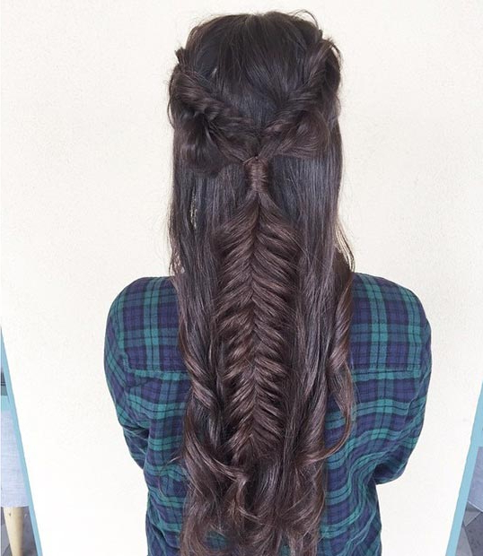 26 Stunning Half Up, Half Down Hairstyles | Stayglam For Latest Softly Pulled Back Braid Hairstyles (View 17 of 25)