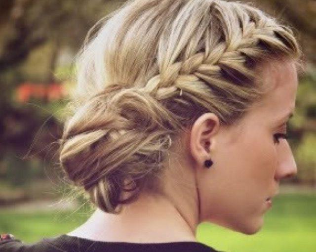 27 Braided Bun Hairstyles 2016 – Elle Hairstyles In Newest Funky Sock Bun Micro Braid Hairstyles (View 15 of 25)