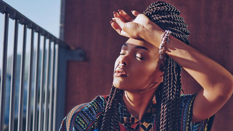 27 Chic Senegalese Twist Hairstyles For Women – The Trend With Regard To Most Current Red, Orange And Yellow Half Updo Hairstyles (View 24 of 25)