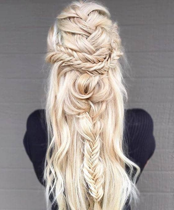 27 Gorgeous Wedding Braid Hairstyles For Your Big Day With Regard To Best And Newest Double Half Up Mermaid Braid Hairstyles (View 7 of 25)