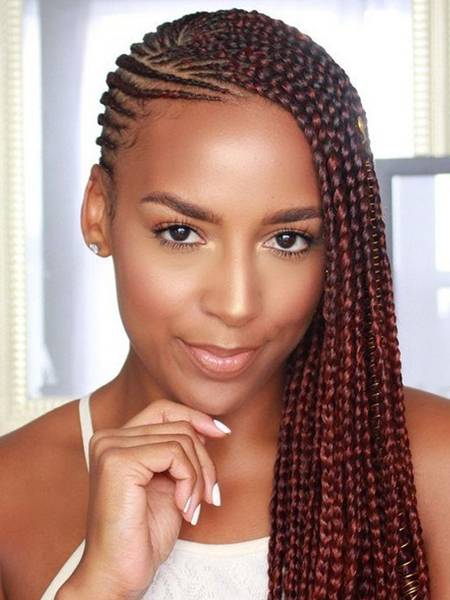 27 Sexy Lemonade Braids You Need To Try – The Trend Spotter Pertaining To Most Popular Side Swept Twists Micro Braids With Beads (View 7 of 25)
