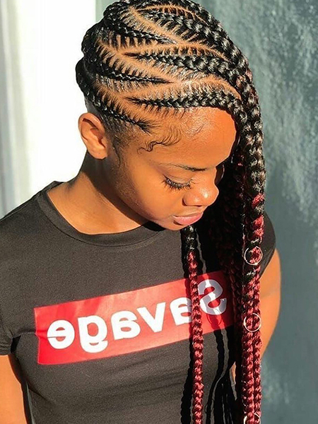 27 Sexy Lemonade Braids You Need To Try – The Trend Spotter Regarding Best And Newest Classic Style Lemonade Braided Hairstyles (View 22 of 25)