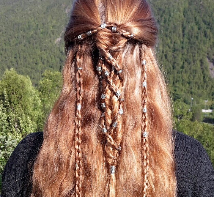 28+ Albums Of Viking Hair Wrap | Explore Thousands Of New With 2018 Braided Hairstyles With Beads And Wraps (View 24 of 25)