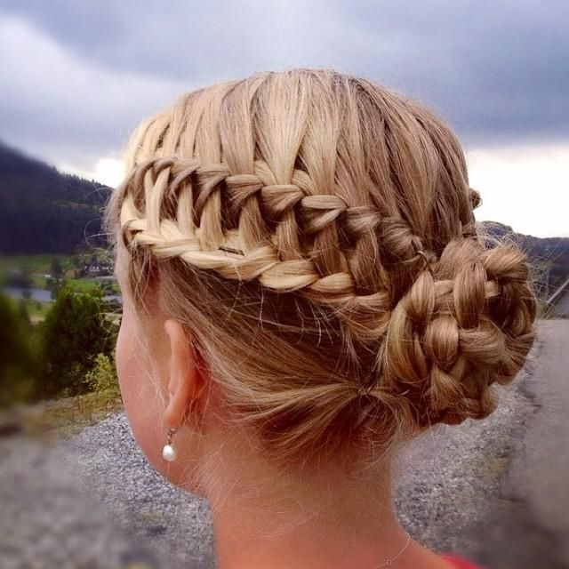 29 Elegant Braided Bun Hairstyles | Hairstylo Intended For Newest Braids And Buns Hairstyles (View 16 of 25)
