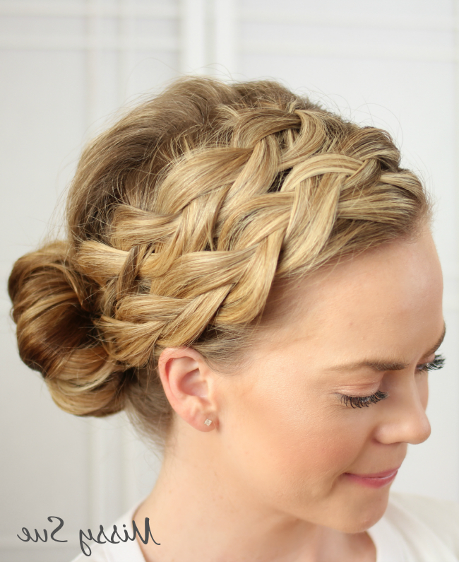 29 Elegant Braided Bun Hairstyles | Hairstylo Throughout Newest Braids And Buns Hairstyles (View 22 of 25)