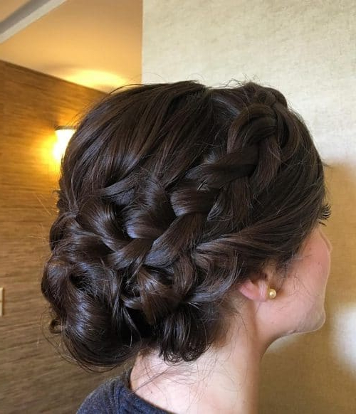 29 Gorgeous Braided Updo Ideas For 2019 For Newest Brown Woven Updo Braid Hairstyles (View 9 of 25)