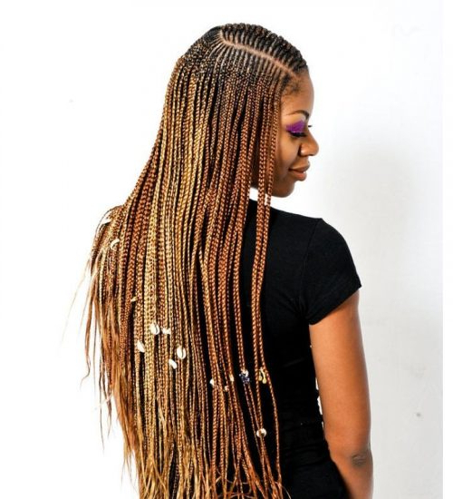 29 New Feed In Braids For 2019 – 2, 3, 4, 5 & 6 Strands Inside Most Up To Date Side Parted Braid Hairstyles (View 9 of 25)