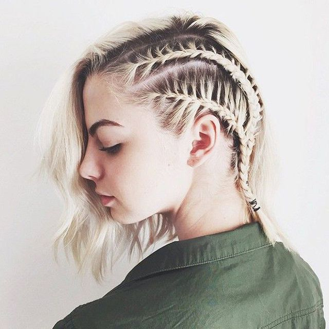 29 Swanky Braided Hairstyles To Do On Short Hair – Wild With 2018 Long And Short Bob Braid Hairstyles (View 14 of 25)