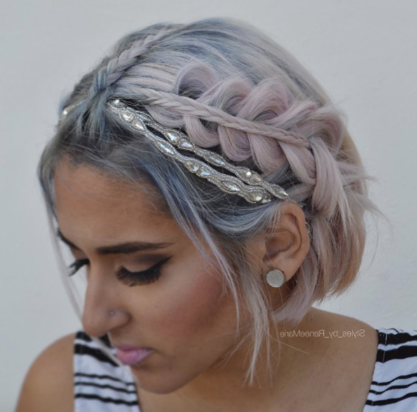29 Swanky Braided Hairstyles To Do On Short Hair – Wild Within Current Rope And Fishtail Braid Hairstyles (View 22 of 25)
