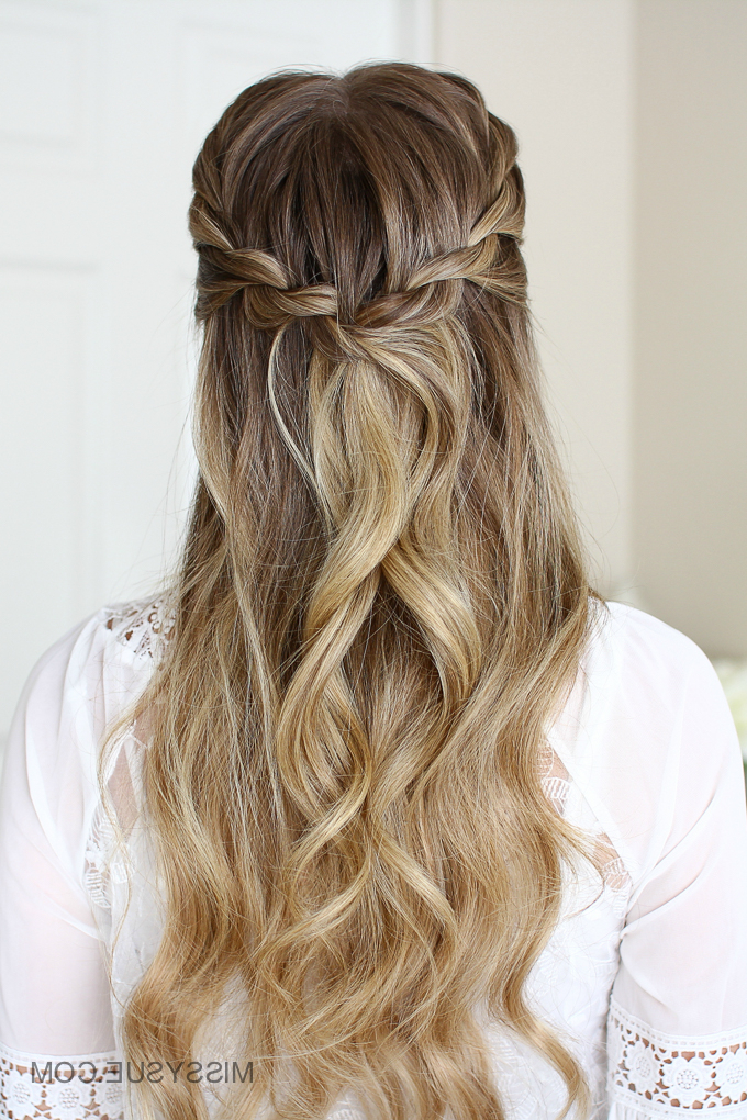 3 Easy Rope Braid Hairstyles | Missy Sue In Recent Pink Rope Braided Hairstyles (View 11 of 25)