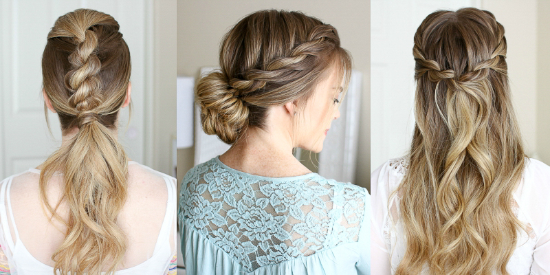 3 Easy Rope Braid Hairstyles | Missy Sue Pertaining To Most Recently Pink Rope Braided Hairstyles (View 24 of 25)