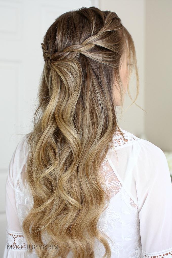 3 Easy Rope Braid Hairstyles | Missy Sue Throughout Most Popular Loose 4 Strand Rope Braid Hairstyles (View 15 of 25)