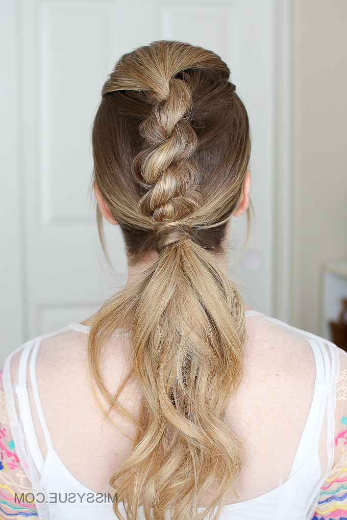 3 Easy Rope Braid Hairstyles | Missy Sue Within Newest Loose 4 Strand Rope Braid Hairstyles (View 4 of 25)