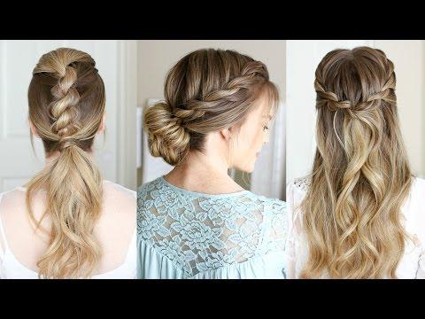 3 Easy Rope Braid Hairstyles | Missy Sue – Youtube Inside Newest Messy Rope Braid Updo Hairstyles (View 12 of 25)