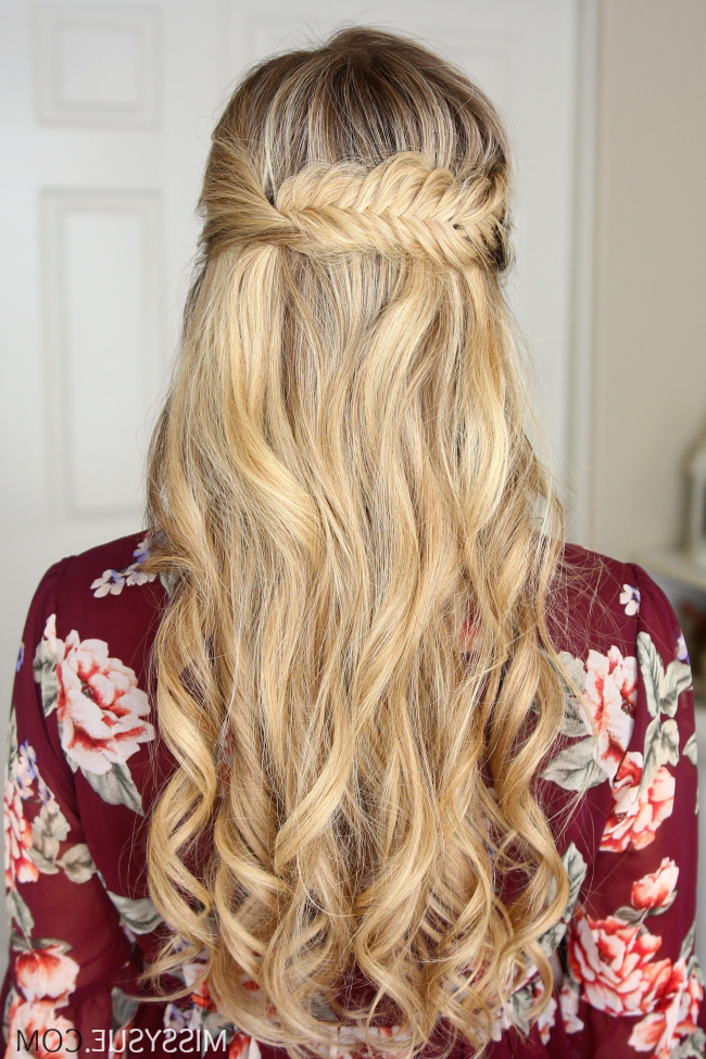 3 Fall Half Up Hairstyles | Women's World | Hair Styles For Most Current Wrapping Fishtail Braided Hairstyles (View 3 of 25)