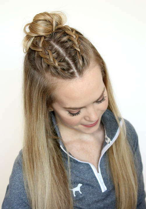 3 New Ways To Rock The Half Up Top Knot Trend – Girlslife Intended For Recent Half Up Top Knot Braid Hairstyles (View 2 of 25)
